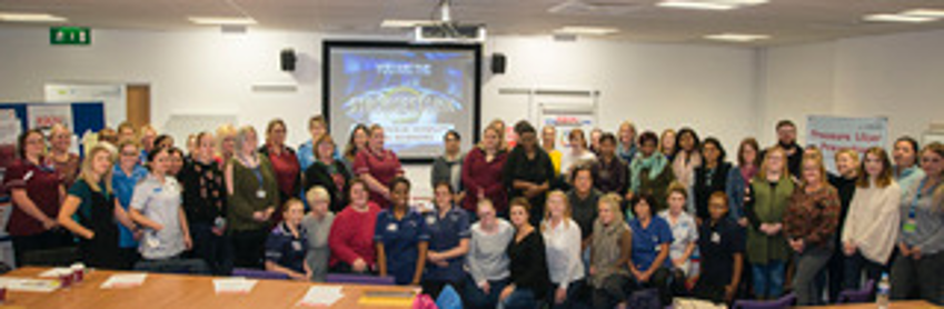 Figure 1 – The University Hospital Coventry Warwickshire Tissue Viability Link Workers at a recent Stop the Pressure event.